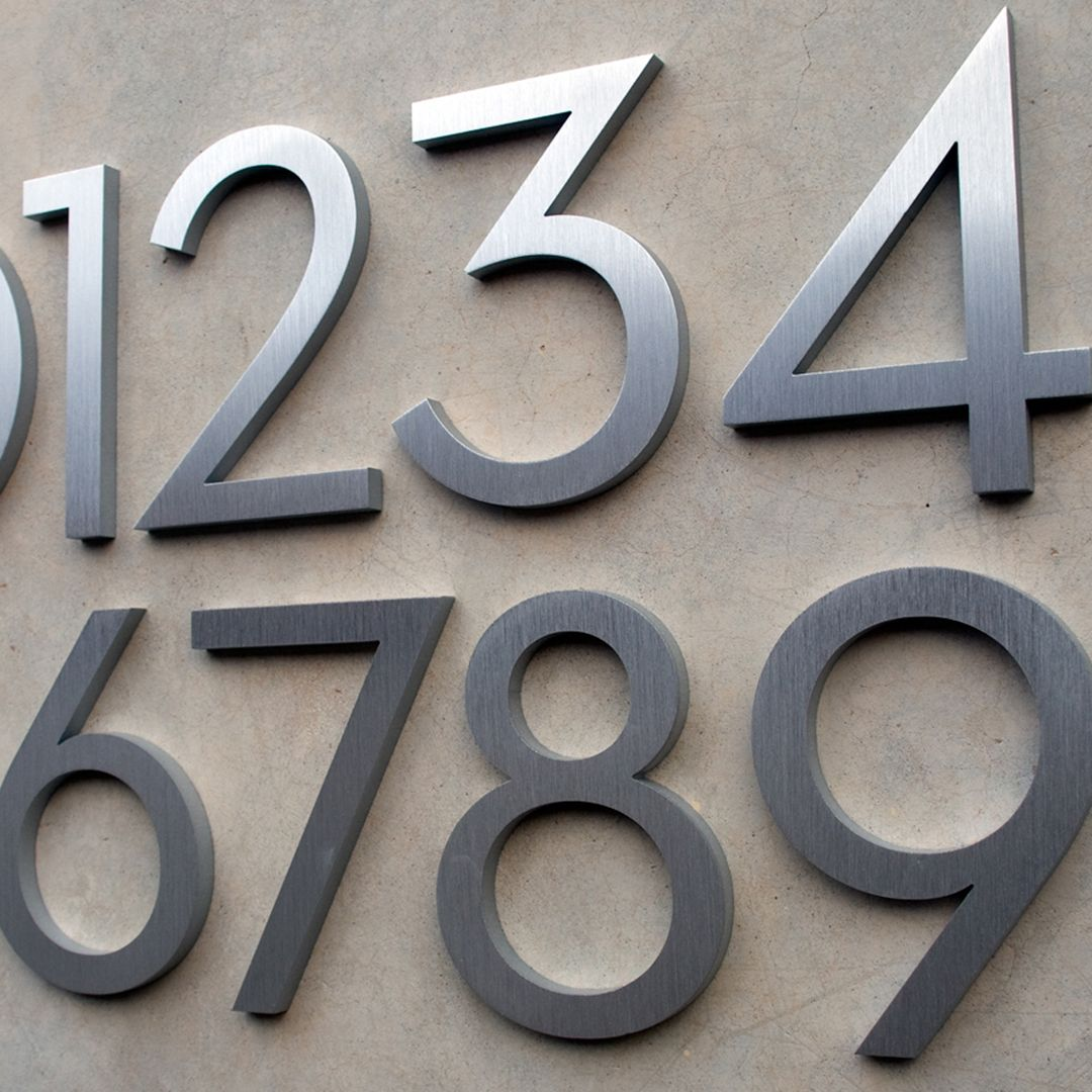 Luxello Modern Neutra House Numbers Led Backlit House Numbers Led House Numbers Neutra House Numbers