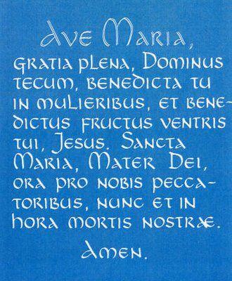 Ave Maria   beautiful song, beautiful prayer, to our beautiful