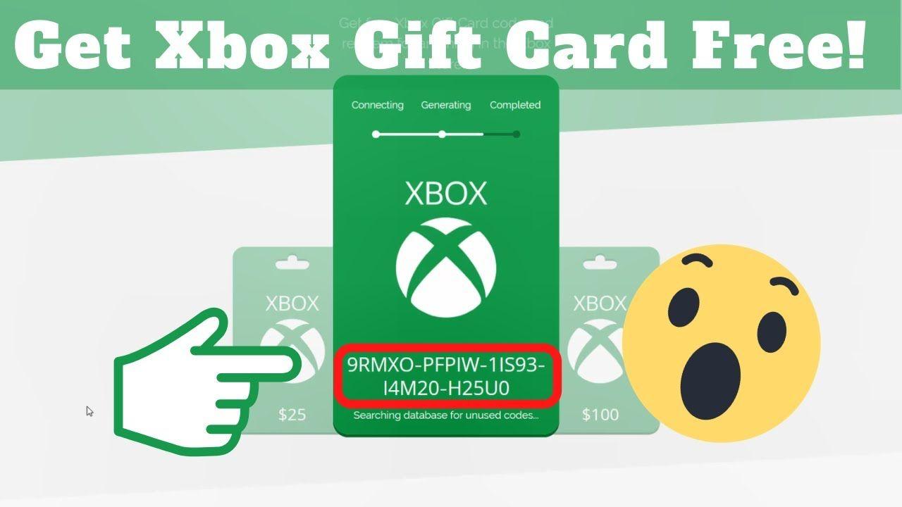 Get Free 100 Xbox Gift Card Code 2021 Free Unused Xbox Codes In 2021 Xbox Gift Card Xbox Gifts Free Gift Card Generator
