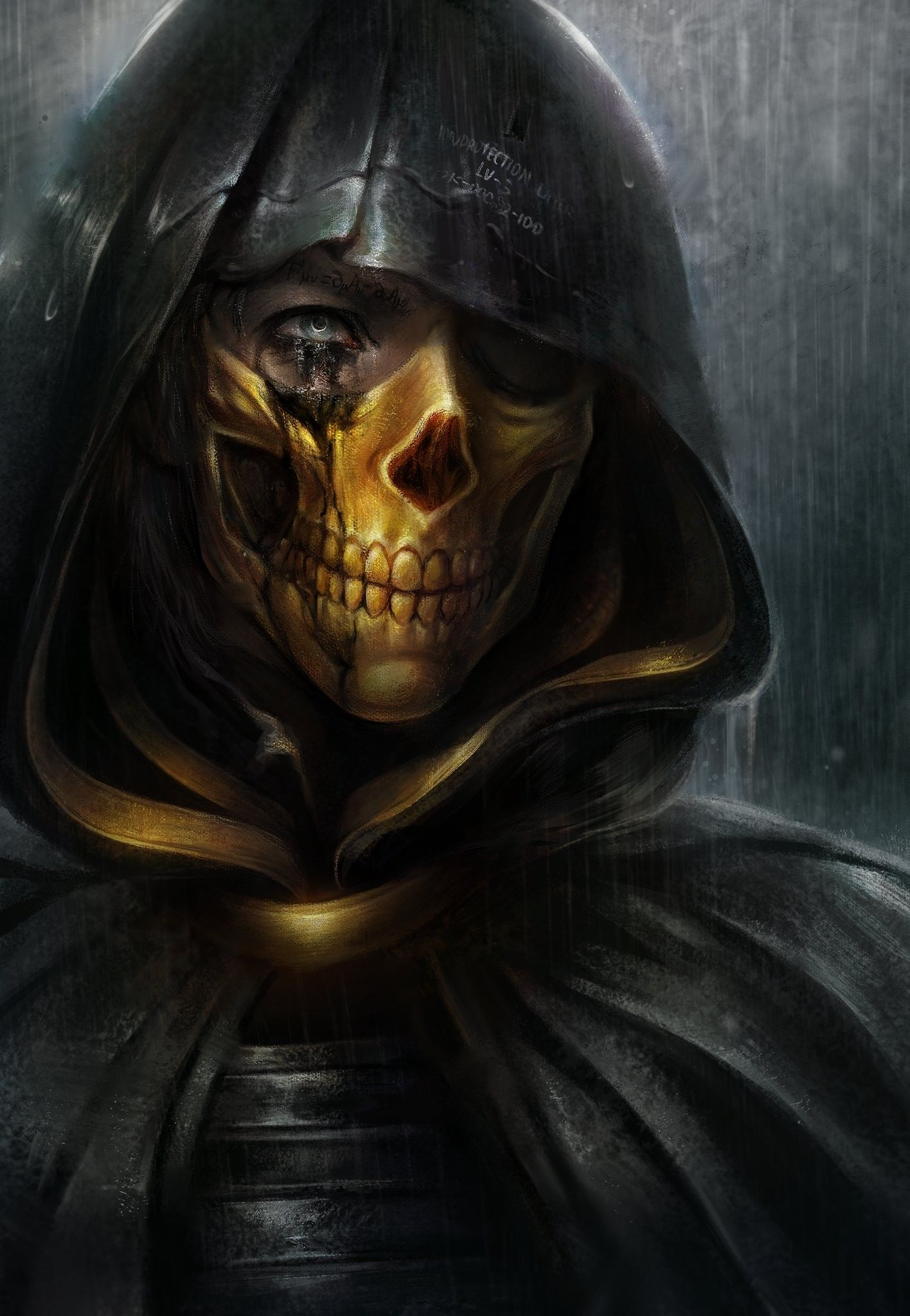 Death Stranding Gold Skull Mask Higgs Troy Baker 4k 3840x2160 Wallpaper Troy Baker Skull Mask Gold Skull