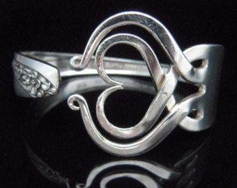 Silver Fork Bracelet in Original Fancy Design by MarchelloArt