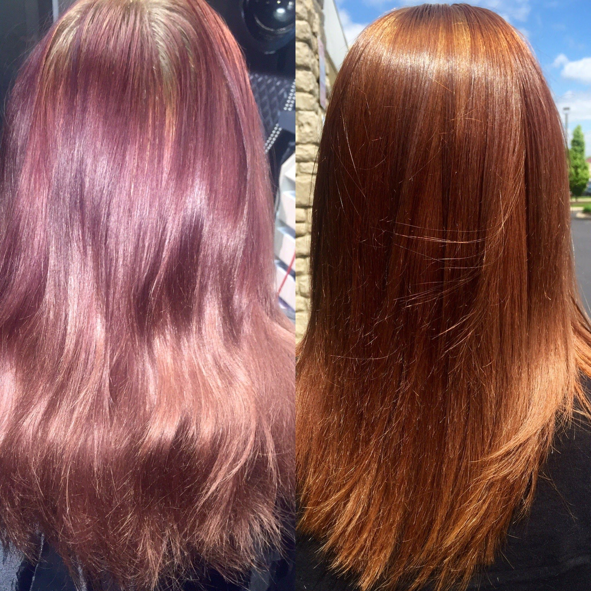 Color Correction To Golden Auburn Using Pravana Chromasilk Hair