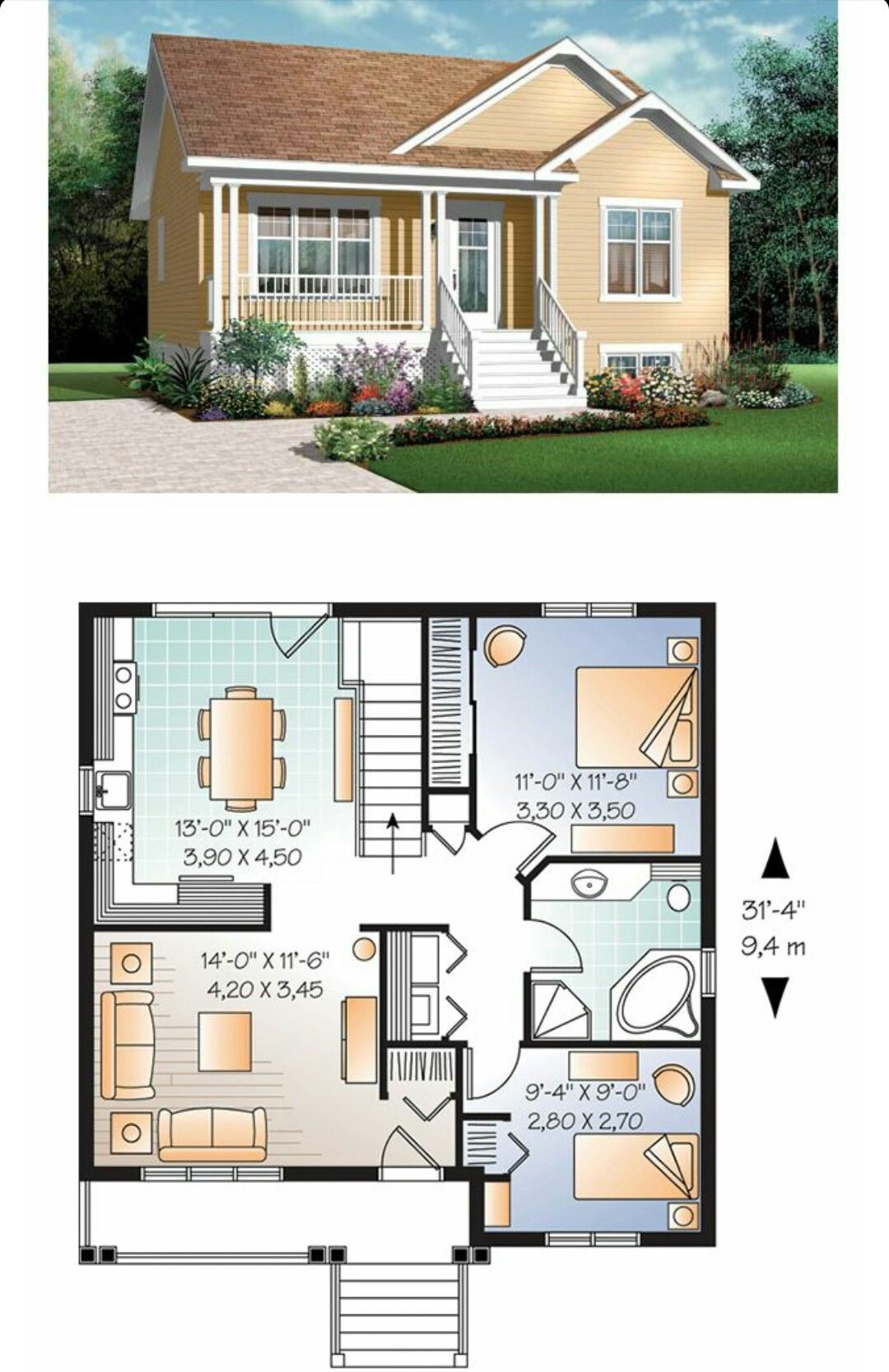 Pin By Omar Torres On Houses House Plans Modern House
