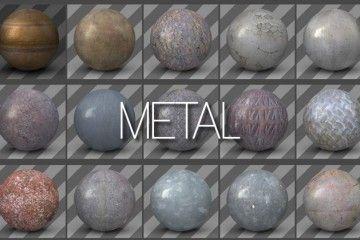 Free Materials Pack For C4D - Rusty Metal, Old Wood, Broken