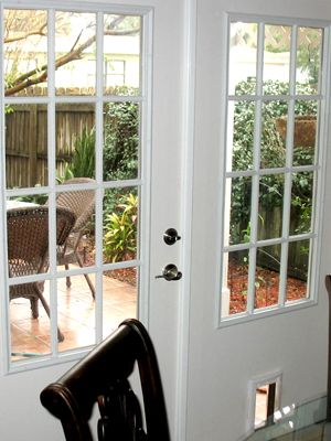 12 Lite French Door With Pet Door Pet Door French Doors Doors