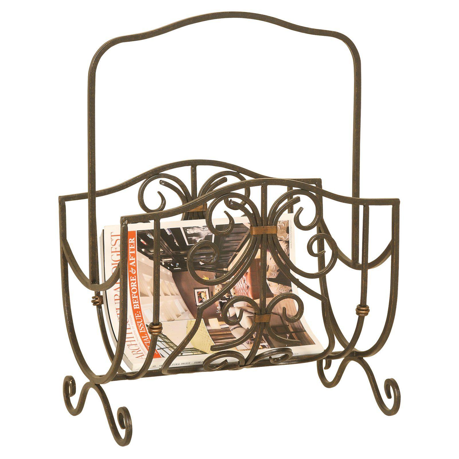 Bathroom magazine rack wall mount oil rubbed bronze
