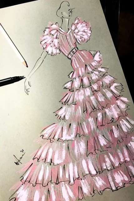 Photo of 63+ Trendy Fashion Ilustration Pink Dresses