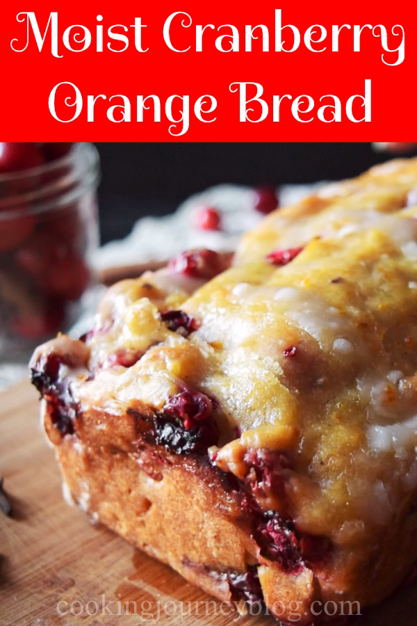Moist and healthy Cranberry Orange Bread