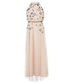 c2b26b33b64 GB Girls Social Big Girls 7-16 Star-Print Maxi Dress