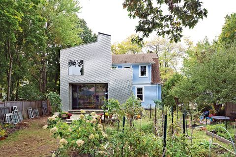 Best Modern Aluminum Shingle Clad Home Stamped Recycled 640 x 480