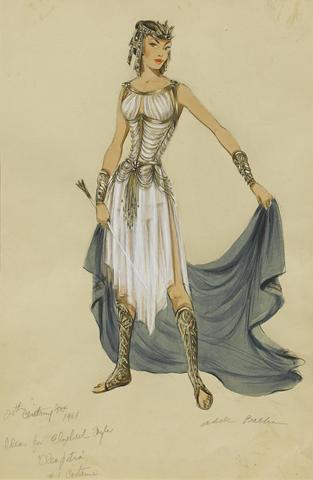 Irene Sharaff Adele Balkan Costumes De Films Esquisses Et Croquis Cléopâtre 1963 Costume Design Sketch Fashion Designers Famous Fashion Sketches