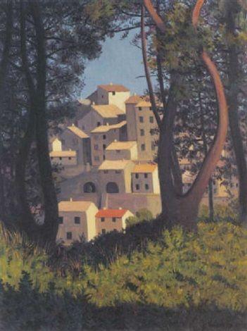Vue de Cagnes - Félix Vallotton | Französische Malerei ...