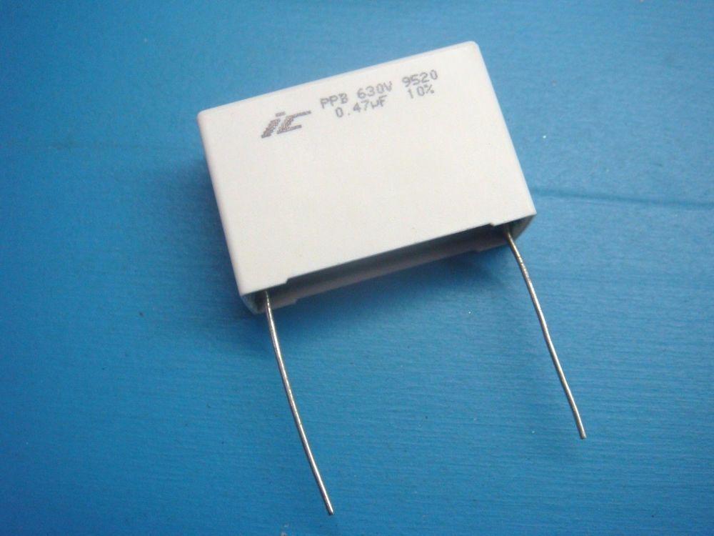 2 474ppb630k 0 47uf 630v 10 105 Radial Polypropylene Film Capacitor Illinoiscapacitors Ebay Repair Capacitors
