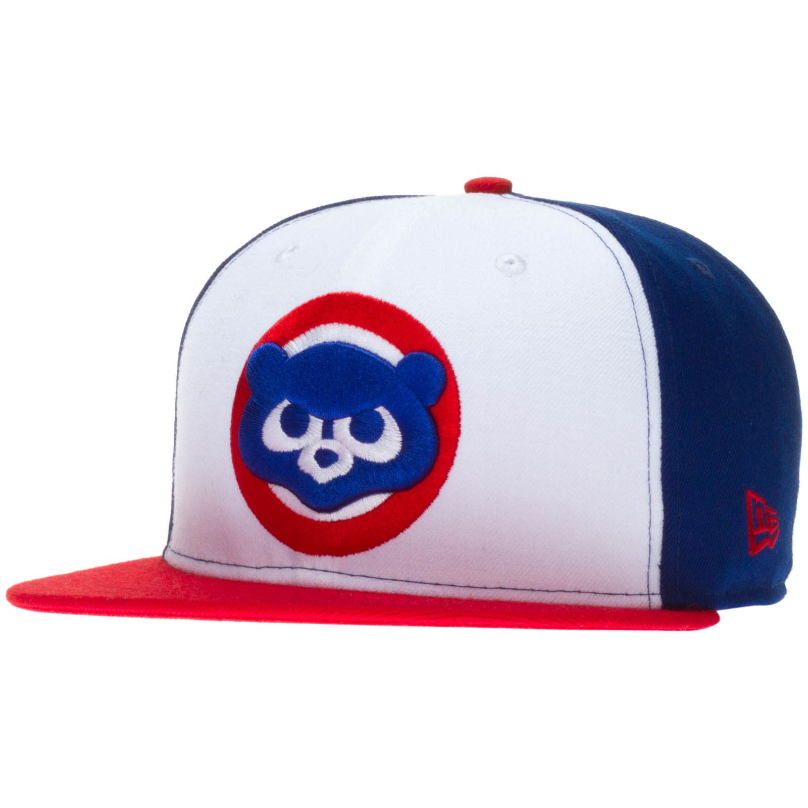 info for 9264b 36c1e italy chicago cubs red white and blue over size 1984 angry bear logo  snapback hat by
