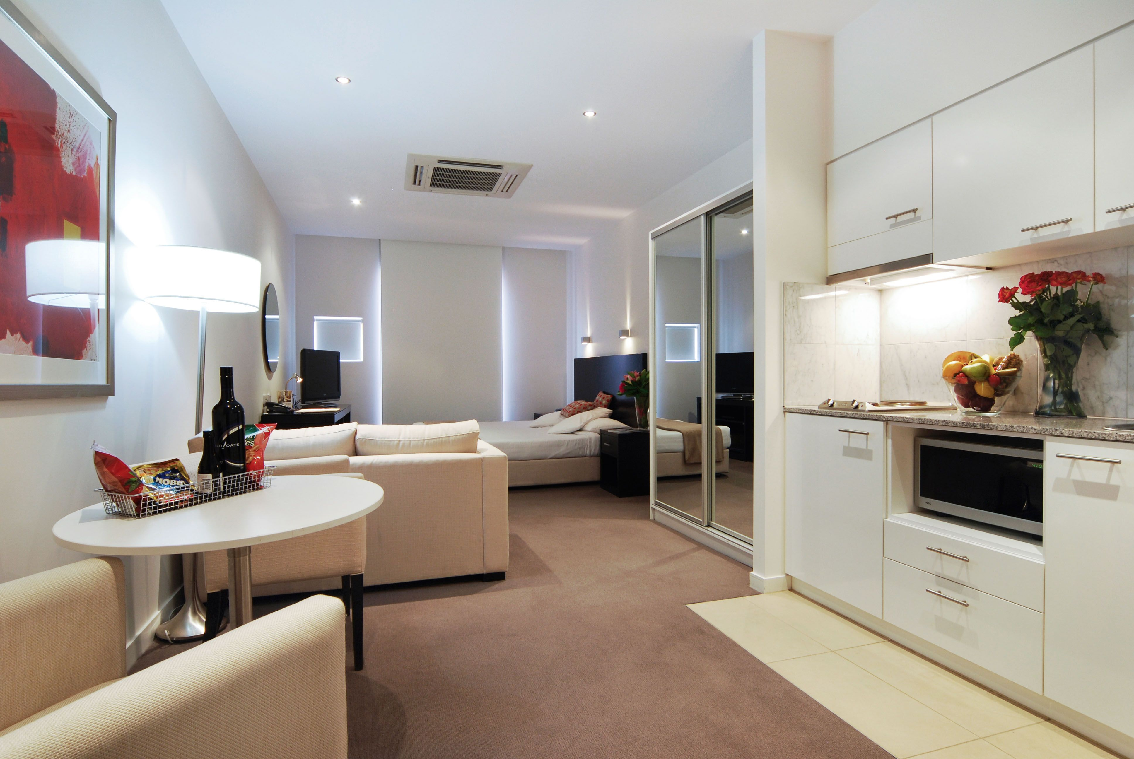 Wonderful Apartment : Minimalist Studio Apartment Furniture With Corner .