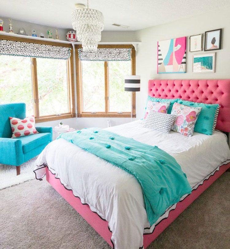 65 Cute Teenage Girl Bedroom Ideas: Stylish Teen Girl Room Decor (2019) #teenagegirlbedrooms