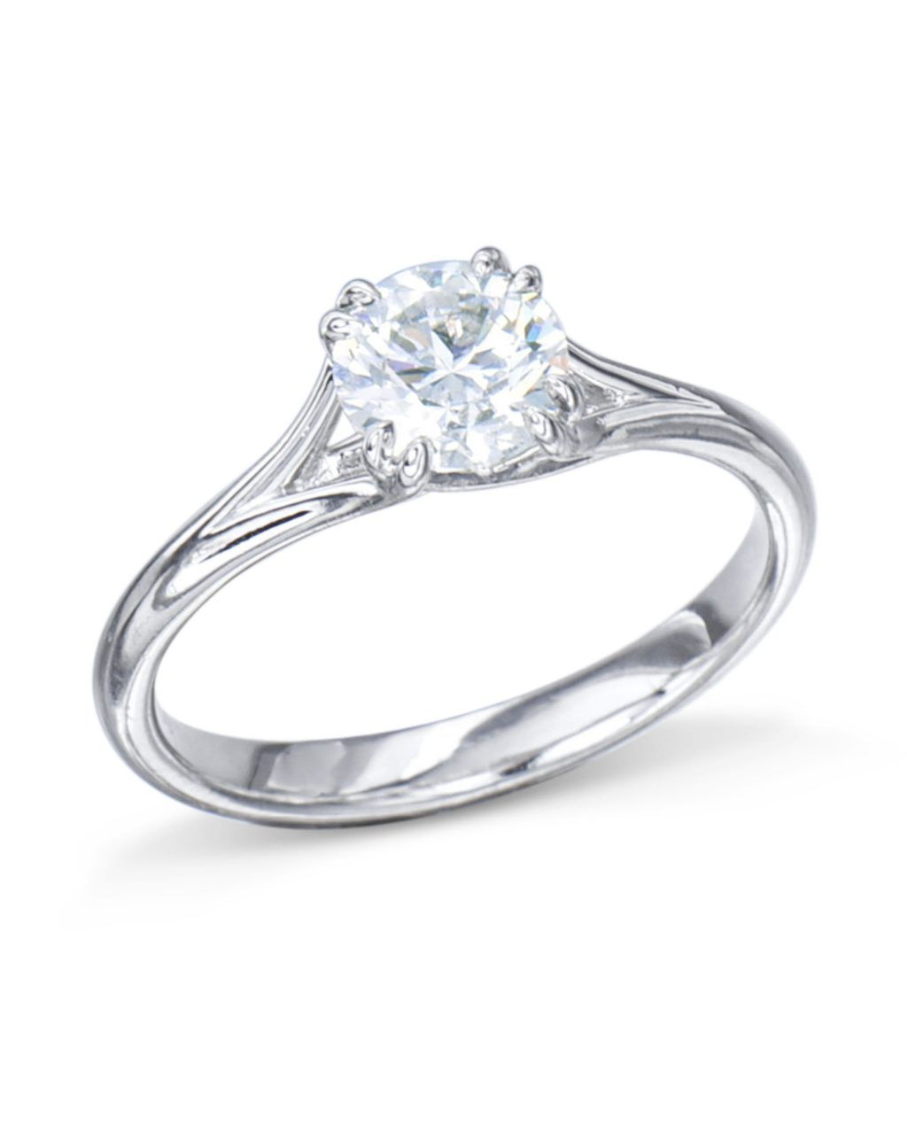 ba8ee78be Our platinum Signature Solitaire diamond engagement ring is a Turgeon Raine  exclusive.Hand-fabricated in precious platinum, this engagement ring is  hand ...