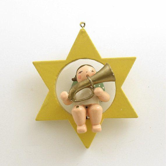 Vintage Wendt Kuhn Angel Christmas Ornament West By Efinegifts
