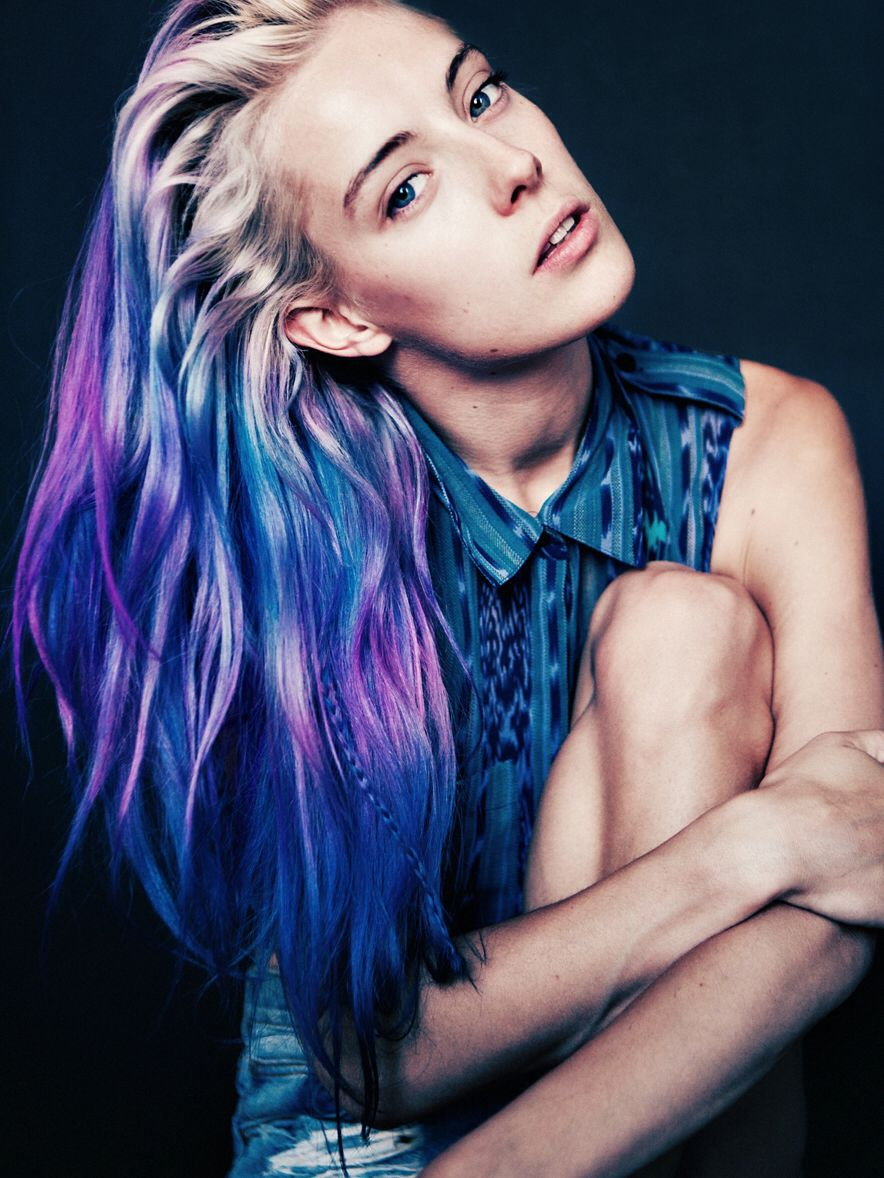 Blue u purple hair hair pinterest hair style