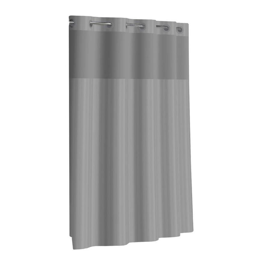 Hookless Hookless Gray Shower Curtain 71x74 With Peva Liner