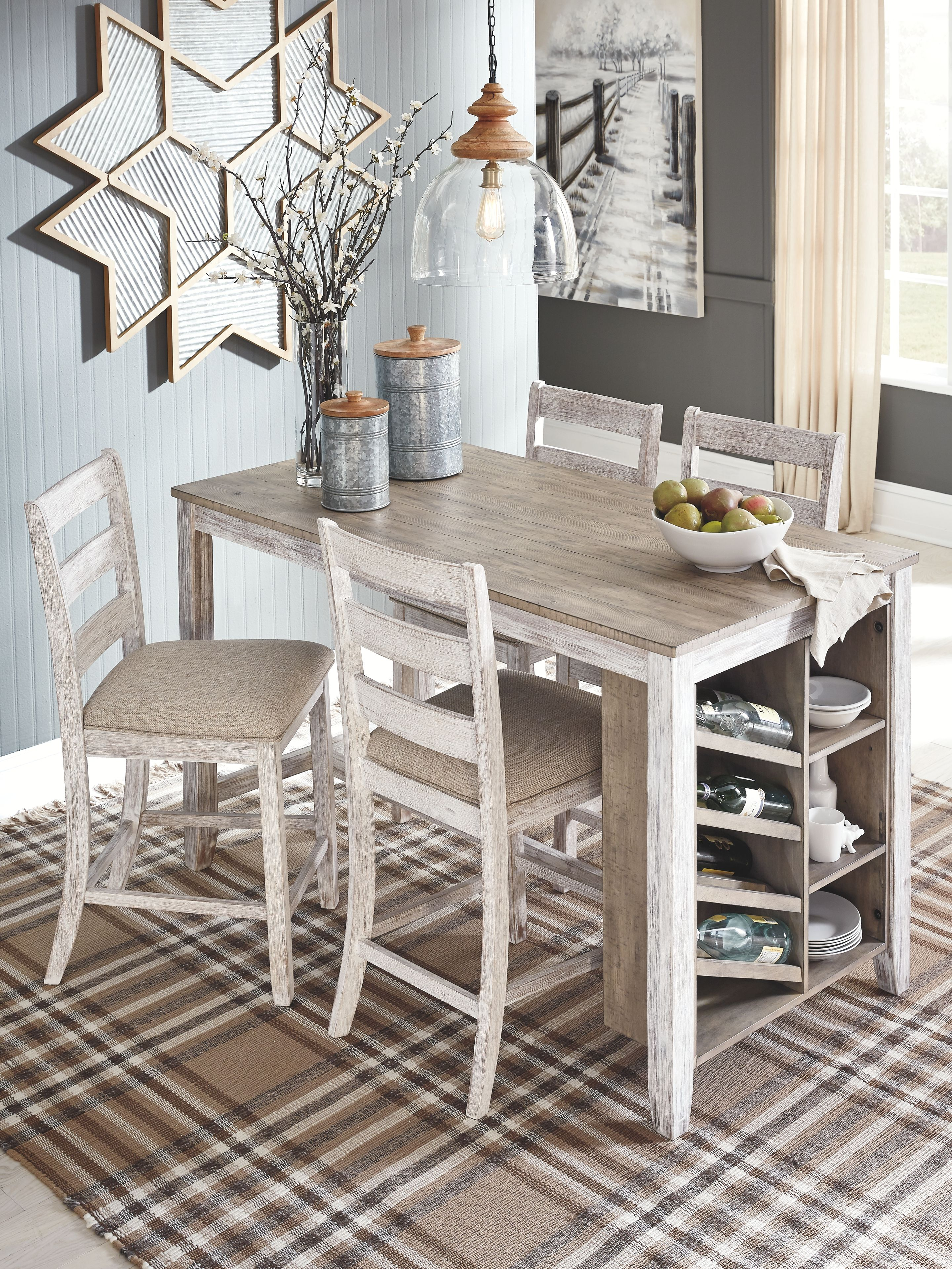 Skempton Counter Height Dining Table  Ashley Furniture HomeStore