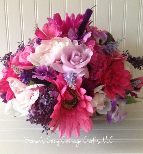 Floral Home Decor Floral Arrangement Flower Bscozycottagecrafts Etsyspecialt Integritytt