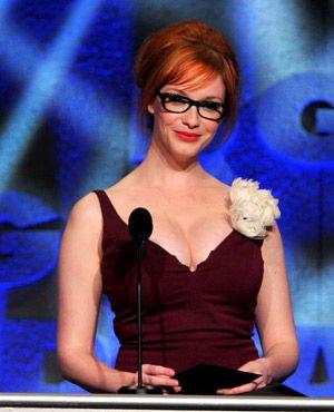 christina hendricks eyeglasses