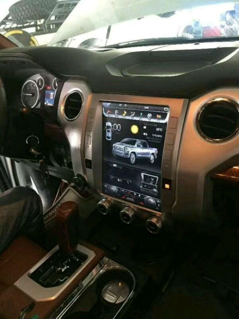 this radio can be installed in toyota tundra 2014 2018 stunning feature rich plug and play retain most oem features wifi bluetooth mirrorlink  [ 768 x 1024 Pixel ]
