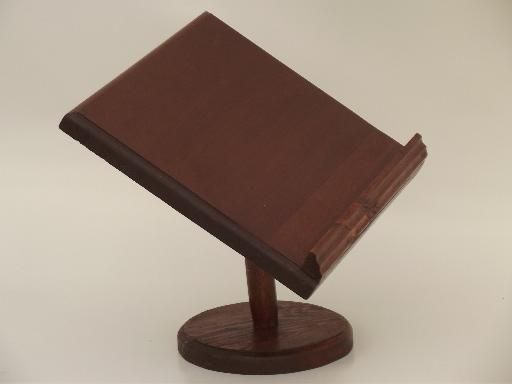 Vintage Wood Book Stand Tabletop Reading Lectern Dictionary Reference Proyectos De Madera Madera De Madera