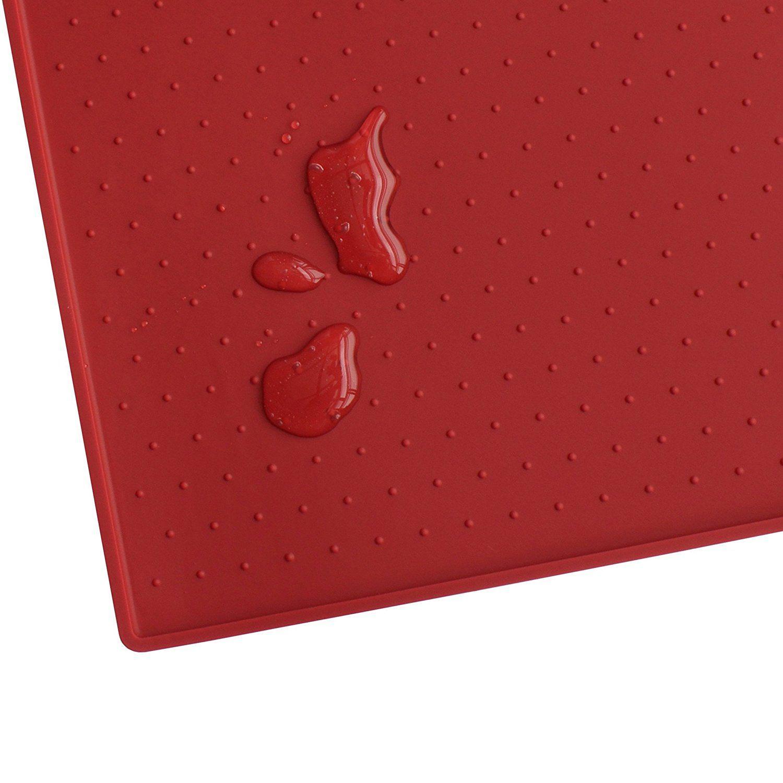 Hiado non slip waterproof dog food mat with splash guard