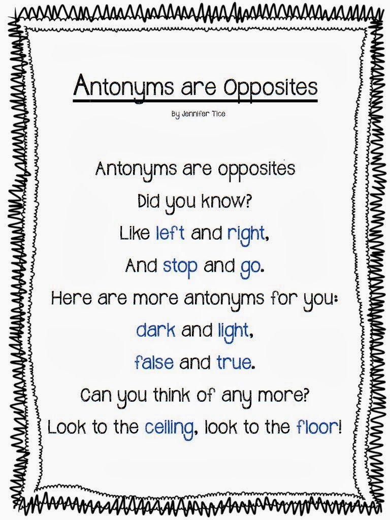 Worksheet Afraid Antonyms rowdy in first grade everything antonyms grammar pinterest antonyms