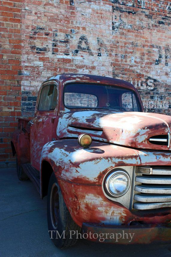 "42/"" x 24/"" LARGE WALL POSTER PRINT NEW. Rusty Dodge Pickup Truck Antique"