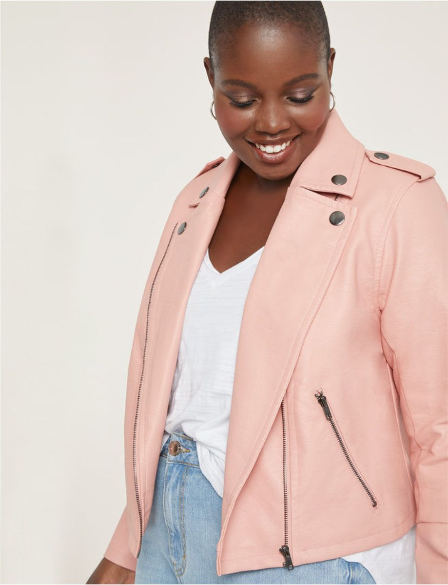 Oh Hey Curvy Girl These Are The Cold Weather Jackets To Stock Up On Plus Size Leather Jacket Womens Moto Jacket Plus Size Coats [ 1200 x 919 Pixel ]