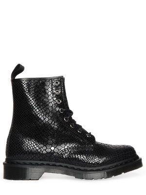 Dr. Martens Hi Shine Snake Boot, black