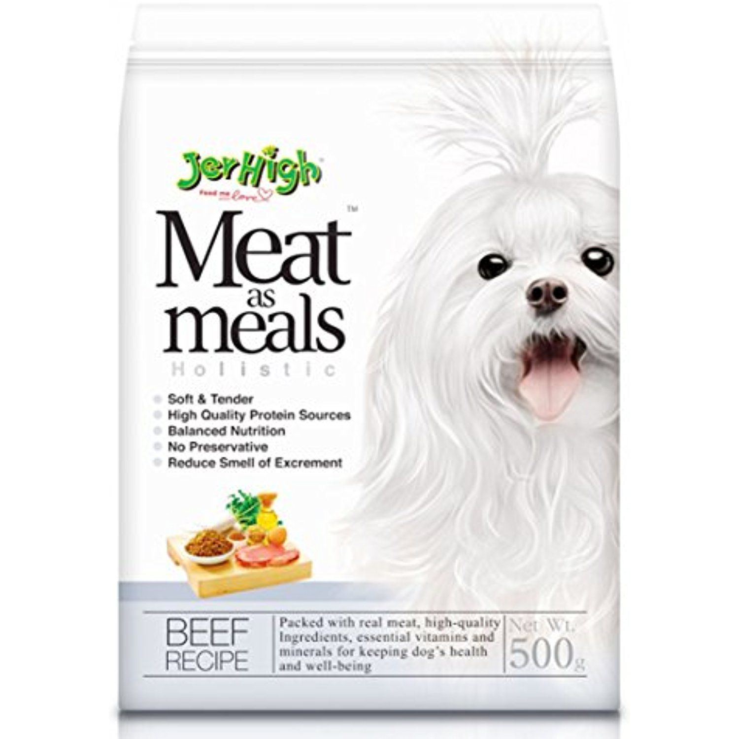 Jerhigh meat as meals holistic beef recipe 500g you