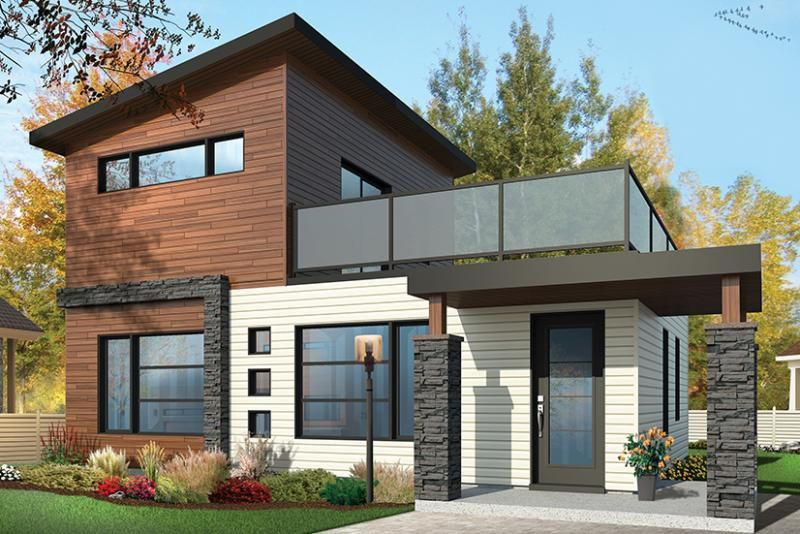 House Plan 034 01071 Modern Plan 924 Square Feet 2 Bedrooms 2 Bathrooms In 2020 Modern Style House Plans Contemporary House Plans Modern Contemporary House Plans