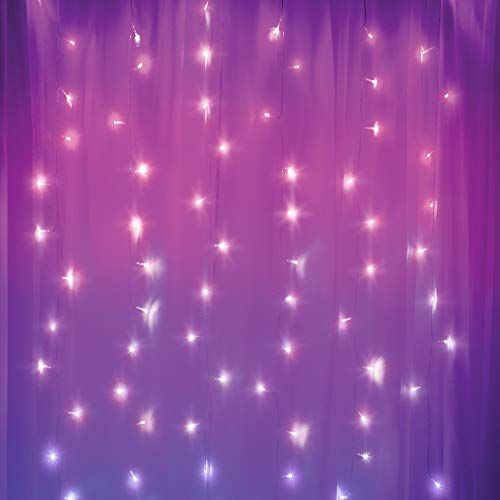 Merkury Innovations Curtain Lights Cascading Battery Operated Led