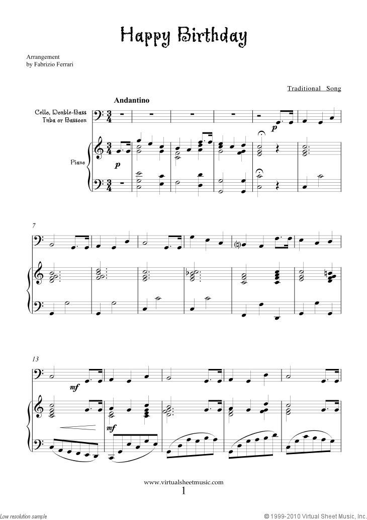 Pin By Siren Muse On Happy Birthday Happy Birthday Music Notes