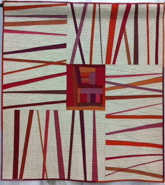 """""""Unraveled"""" by Kati Spencer. 2nd place, Improvisation, Large; 2013 QuiltCon show. Photo by Christa Watson."""