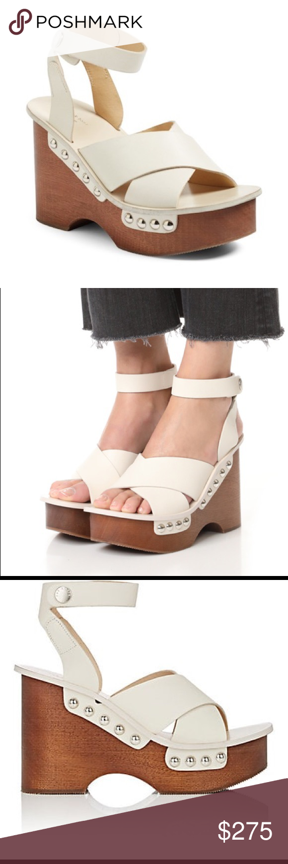 b21193d45ab rag + bone Hester platform sandal Never worn platform sandals from rag +  bone. White leather