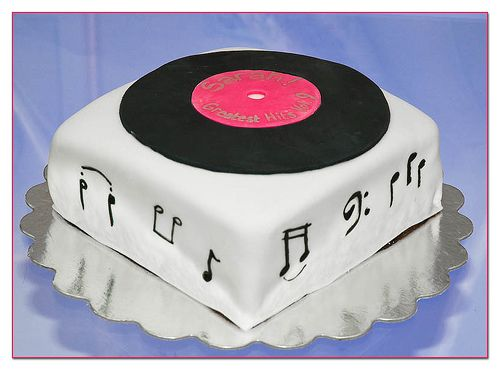 Lp Birthday Cake By Occasionalbaker Via Flickr Cake Quinceanera Cakes Music Cakes
