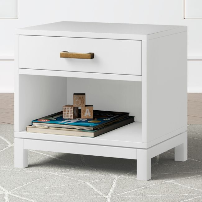 Kids Parke White Nightstand + Reviews | Crate and Barrel Children's room