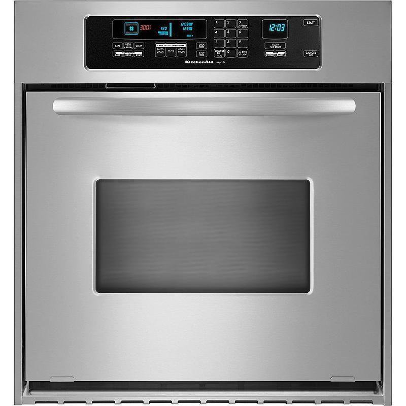 Kitchenaid kebc147vss architect 24 single wall oven