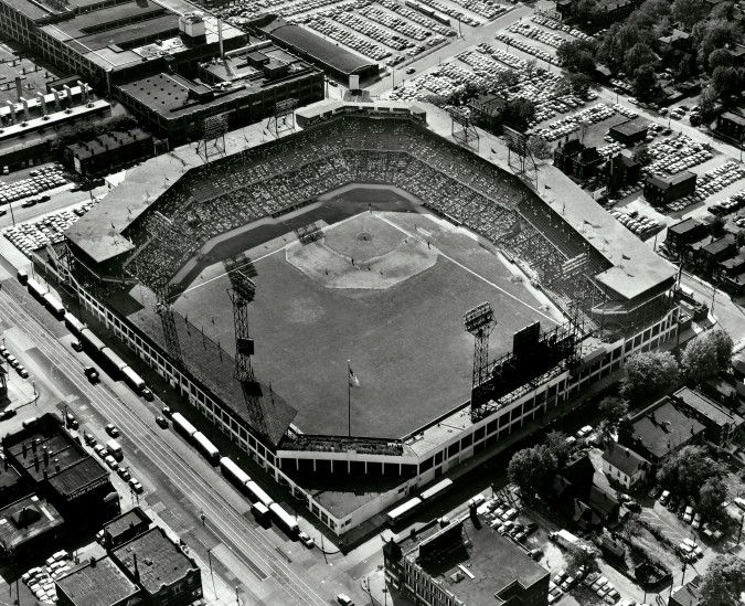 Aerial View Of Sportsman S Park 15 Sept 1955 St Louis Cardinals Baseball Baseball Park St Louis Baseball