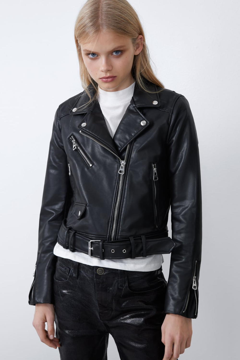 Faux leather jacket Leather jackets women, Faux leather