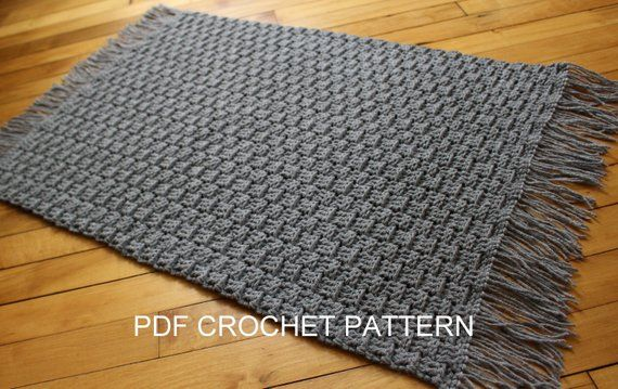 Crochet Pattern Textured Crochet Rug Pattern Easy Crochet Floor