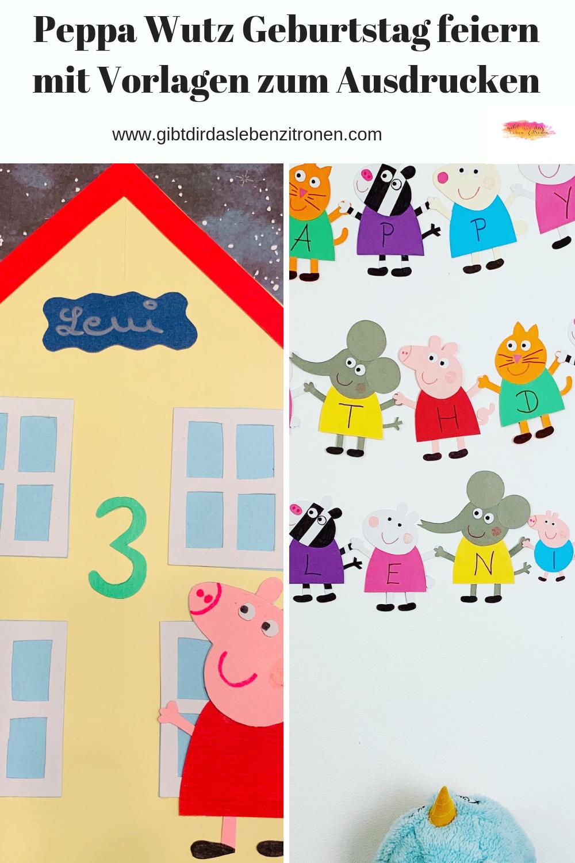 Peppa Wutz Geburtstag feiern mit kostenlosen Vorlagen  Peppa wutz