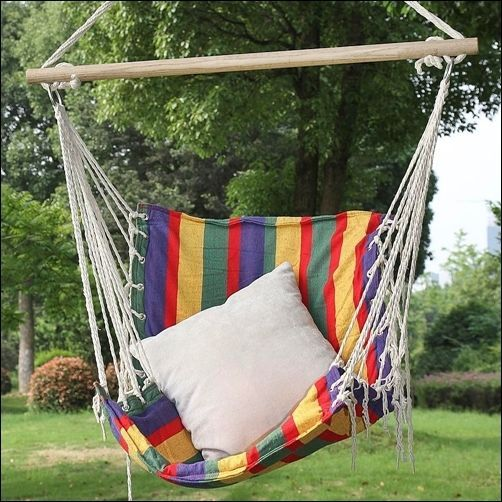 Garden Swing Chair Tree Hanging Hammock Patio Padded Outdoor Yard Relaxing  Seat