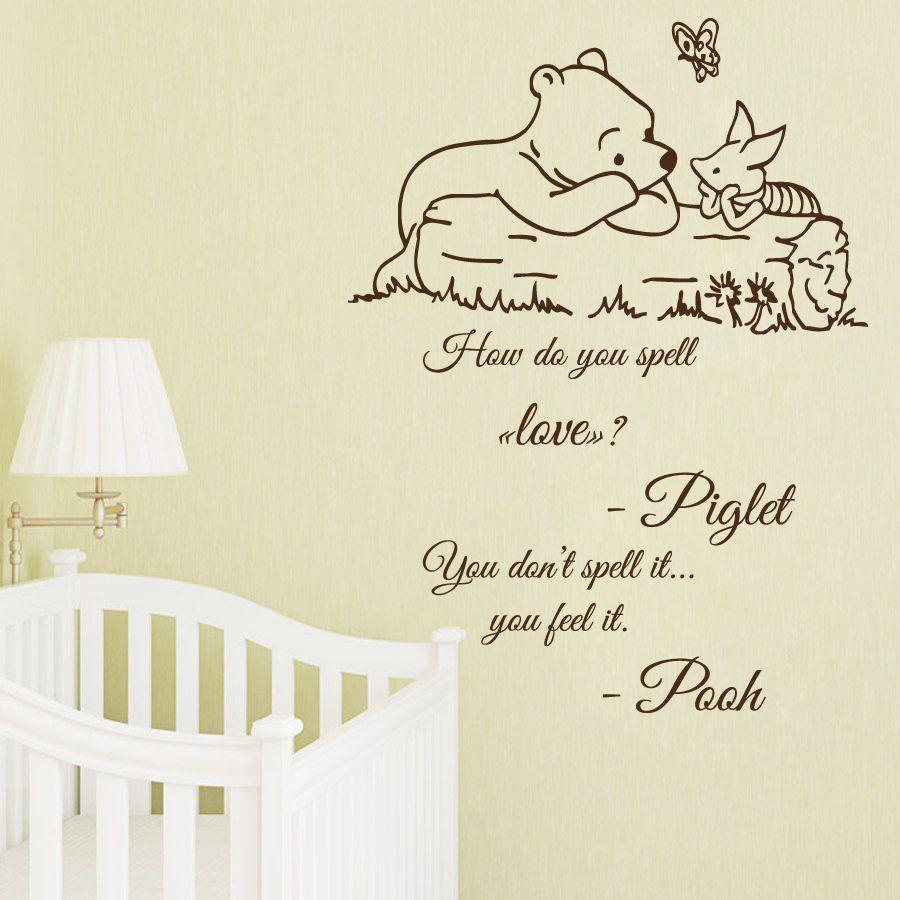 Wall Decal Quote Winnie The Pooh Decals Kids Vinyl Sticker Nursery Decor Kk819 Decalhouse