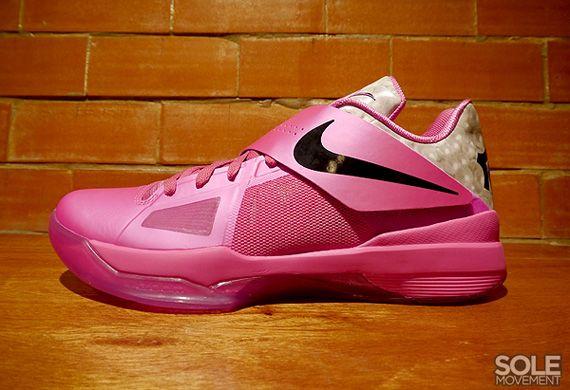 4ecb30cfe77 Nike Zoom KD IV  Aunt Pearl Think Pink  Pinkfire II Black-Metallic Silver  473679-601 05 12 12  95